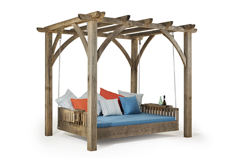 Outdoor Swinging Day Bed Sitting Spiritually