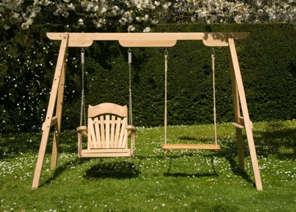 Wooden Garden Swings For Children And Adults Sitting