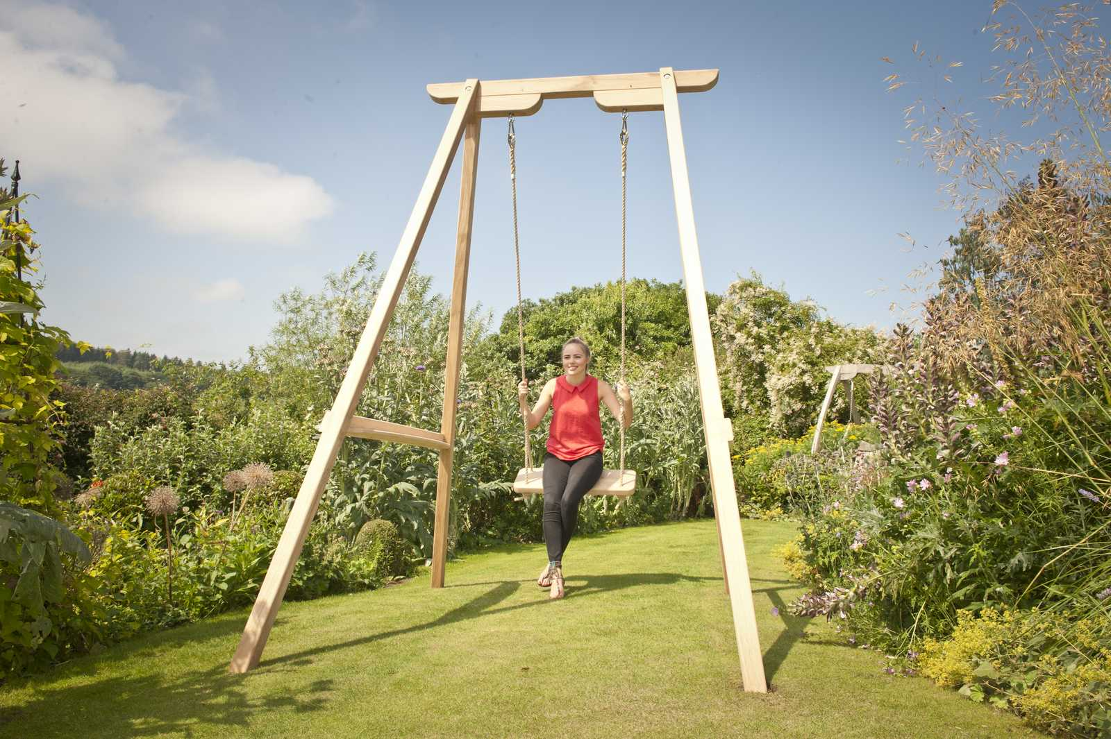 High Oak Frame Swing Seat
