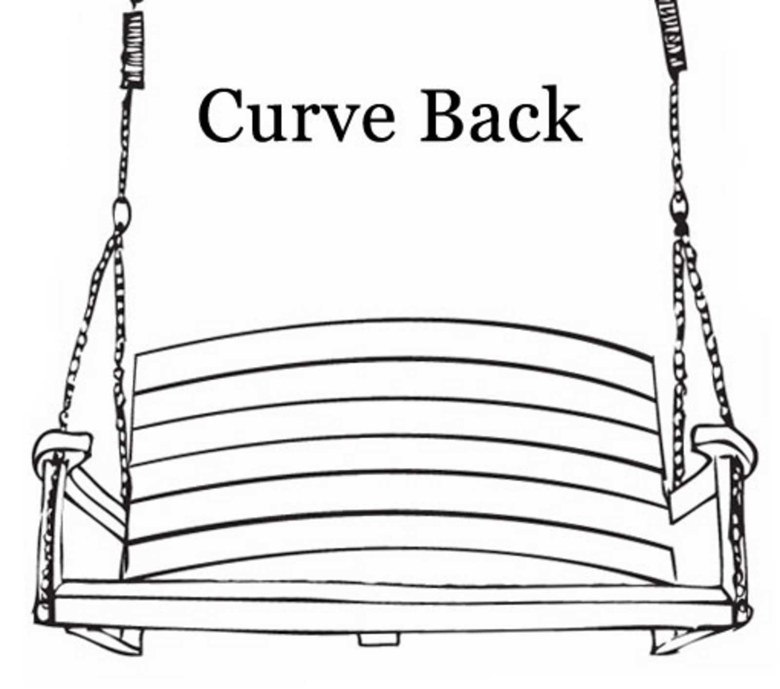Swing Seat Back Designs - Curve Back