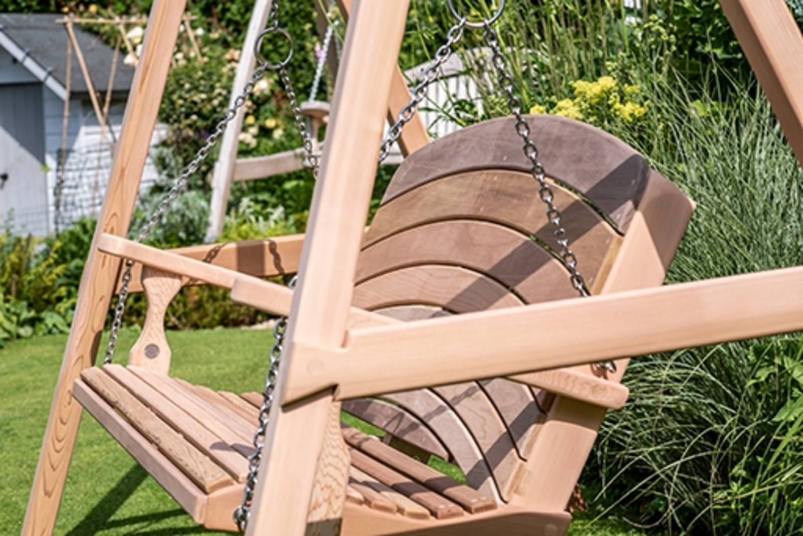 Garden Swing Seat in Oak