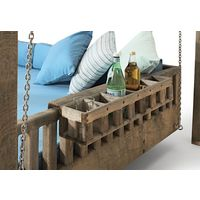 Drinks Holder on Swinging Day Bed Garden Furniture