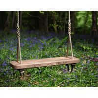 Wooden Rope Swing Carved Single Sitting Spiritually