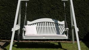 Grey Garden Swing Seat with Cushion
