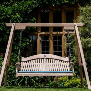 Garden Swing Seat Tranquility in Curved Oak