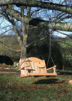 Swing Seat Hanging From a Tree