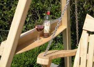 Bespoke Garden Furniture with Drink Shelves UK