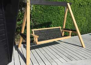 Modern Garden Swing Seat on Decking