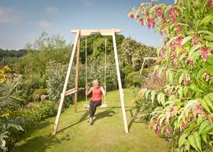 Oak Frame and Swing Set