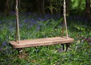 Single Oak or Chestnut Rope Swing for Adults and Children
