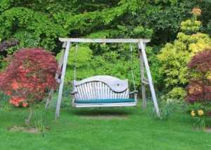 Swing Seat in Garden - Sitting Spiritually