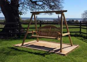 Wooden Garden Swing Seat - Tranquillity in Oak