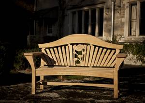 Carved Garden Bench