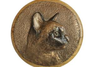 Cat Bronze Carving