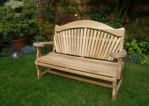 Garden Bench with Fan Back