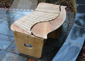 Garden Bench - The Swirl Bench