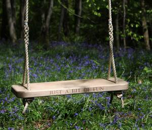 Oak Rope Swing with Inscription