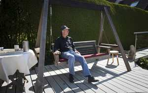 Contemporary Swing Seat Sitting Spiritually garden