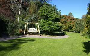 Our swing seat at Burrow Farm Gardens