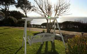 Swing Seat Overlooking the sea at The Alexandra Hotel