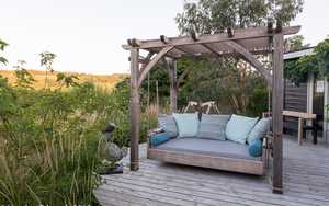 Swinging Day Bed at The Sitting Spiritually Garden