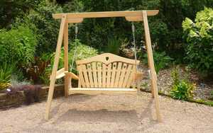 Two Seater Swing Seat at RHS Rosemoor Gardens