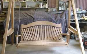 Wooden Swing Seat in Workshop