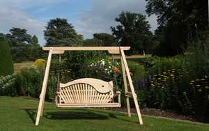 Wooden Swing Seat Sitting Spiritually