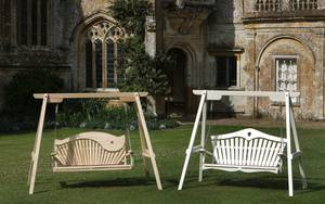 2 Seater Garden Swing Seats at Forde Abbey