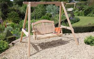 Garden Swing Seat on Gravel