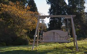 Garden Swing Seat with unique back design