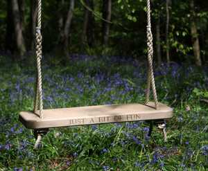 Single Carved Oak Tree Swing