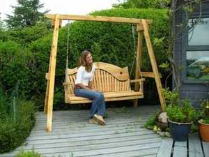 Swing Seat on Patio