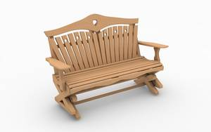 Hand carved garden seat design