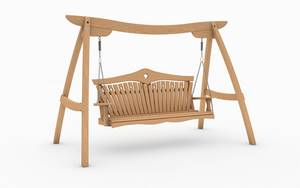 Oak Kyokusen Swing Seat with Heart Back Design