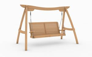 Oak Kyokusen Swing Seat with Slat Back Design