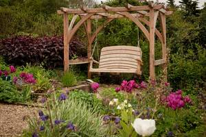 Pergola & Curve Back Swing Seat, 2 Seater