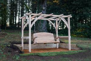Pergola and Swing Seat at Abbotsbury