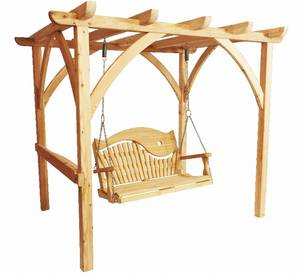 """ Seater Pergola & Swirl Back Swing Seat"