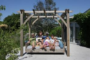 Swinging Day Bed with Family