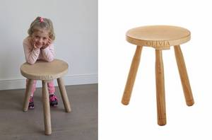 Wooden Milking Stool by Sitting Spiritually