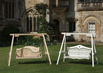 Garden Swing Seats Situated at Forde Abbey