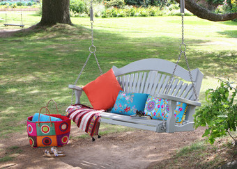 Harmony Painted Pine Swing Seat for Tree