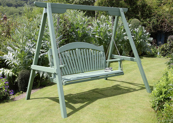 Harmony Swing Seat Painted Pine in Calke Green