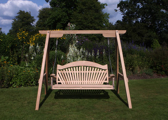 RHS Swing Seat Serenity Cedar Fan Back