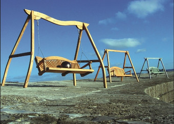 Swing Seats on The Cobb Lyme Regis