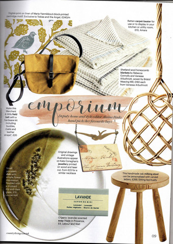 Country Living September 2019 features our Dorset Milking Stool