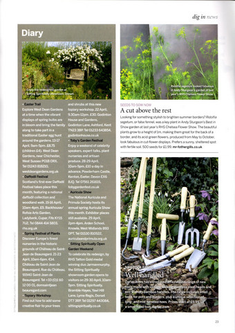 Open Weekend in Gardens Illustrated April 2017