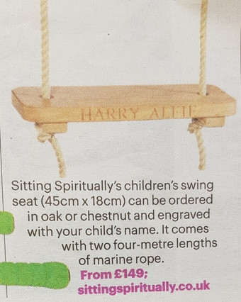 Rope Swing in The Sunday Times Home 6th August 2017