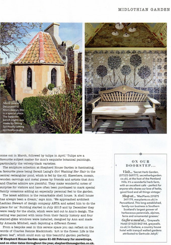 Sitting Spiritually in Country Homes & Interiors February 2016
